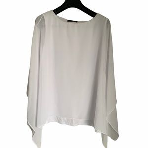 White butterfly blouse long detailed sleeve
